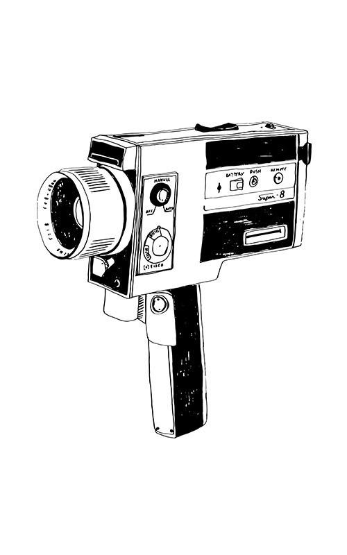 Détails de l'illustration de caméra