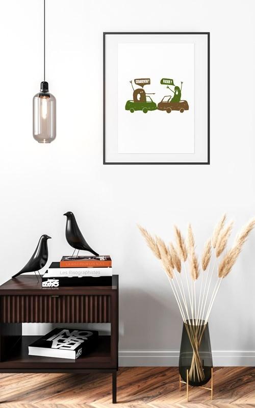 Affichage du poster Cornichon Patate dans un salon