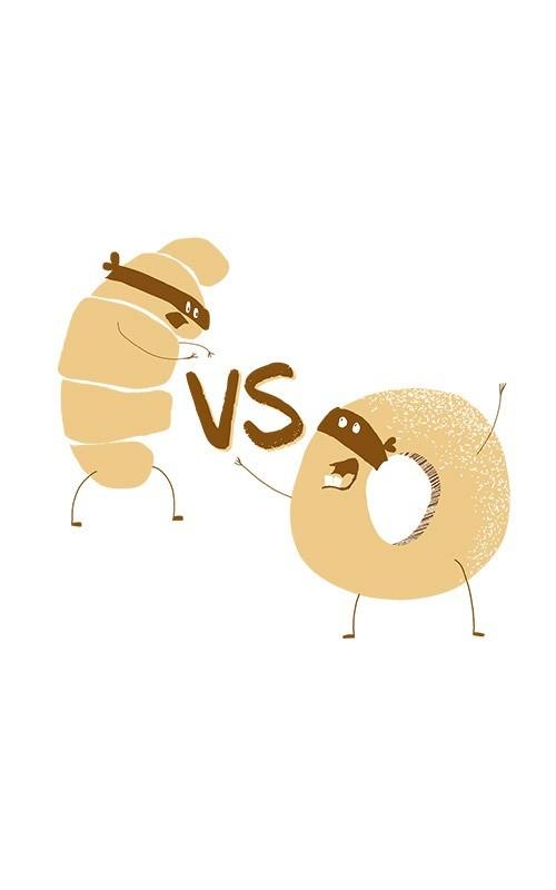 zoom sur poster croissant vs donut
