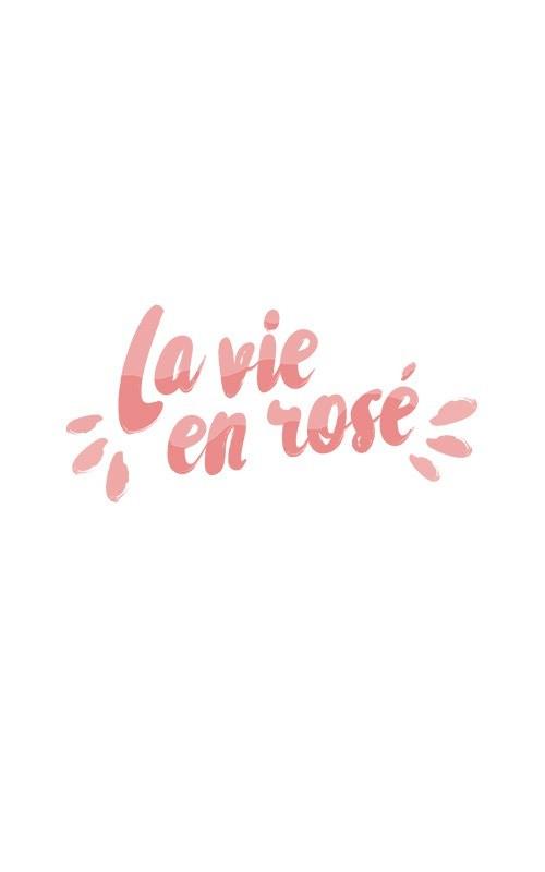 Visuel La Vie en rosé poster risographie