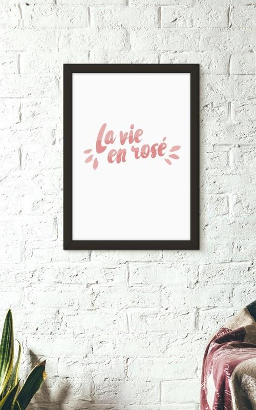La vie en rosé - poster décoration interieur