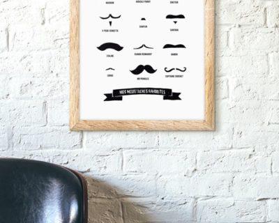 Mise en situation du poster mes moustaches favorites