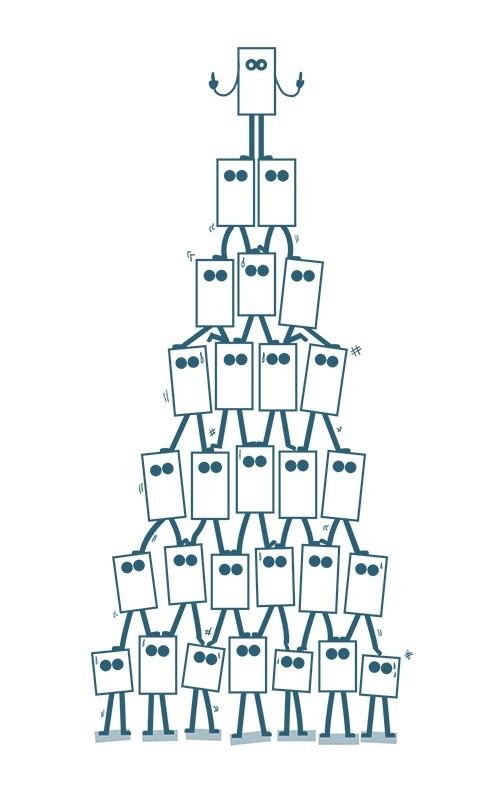 Zoom sur la pyramide de cube