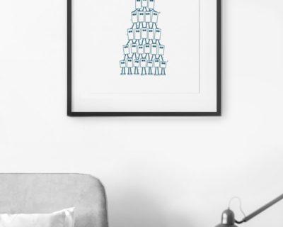 Mise en situation de l'illustration pyramide de cube