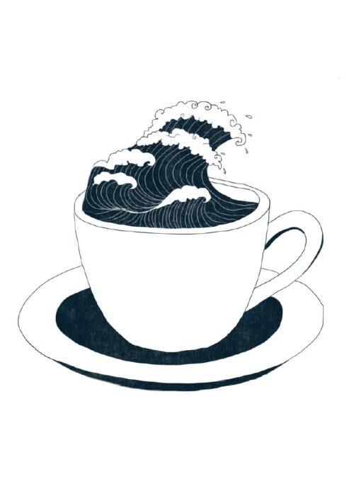 Boire la tasse, un dessin de Cora
