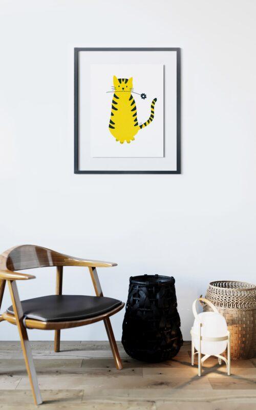 Chat en fleur, un poster de Cora